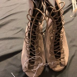 Rebecca minkoff lace up wedges